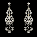 Davina-Elegant Crystal Chandelier Earrings - SALE!!