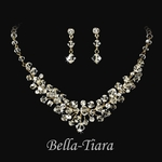 Dazzling Gold Swarovski crystal necklace set - SALE
