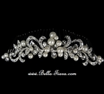 Dazzling - Designer  vintage swirl wedding hair Comb - SALE