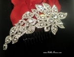Dazzling rhinestone wedding hair comb - SPECIAL Two left