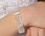 DAZZLING sterling silver and Swarovski crystal wedding bracelet - SALE