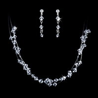 Dazzling Swarovski crystal necklace and Earring Set - CLEARANCE