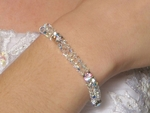 Dazzling swarovski crystal wedding bracelet - SALE