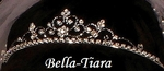 Delia - Lovely Rhinestone floral communion Tiara