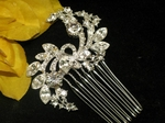 Delphine-Beautiful bold vine crystal bridal comb-  Sale!!!