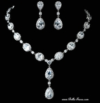 DESIGNER CZ  Stunning bridal necklace set - AMAZINGLY PRICED!!!