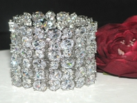 DISTINCTIVE - Gorgeous Cubic Zirconia wide wedding bracelet