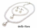 Dolce - 3pcs Child Pearl communion or flowergirl necklace Set