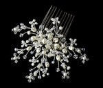 Dolores - Romantic light Ivory Freshwater Pearl bridal hair comb - SALE!