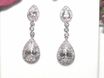 Domenica - Royal Collection - COUTURE CZ Bridal Earrings - Sale!!!