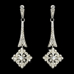 Donatella - Vintage pave CZ Bridal Earrings - SALE!!!