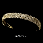 Donna - Beautiful Austrian Crystal wedding Gold Headband