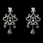 Donna- Beautiful Crystal vintage bridal Chandelier Earrings - SALE!! one set left