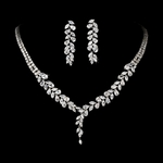 Dora - Gorgeous CZ vine bridal Necklace Set - SALE!!