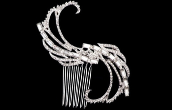 Doris-Gorgeous Vine Sweep Crystal bridal hair comb