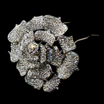 Dramatic and bold rose flower hair pin - SALE!!