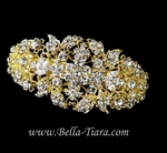 Dramatic gold wedding hair barrette - SALE