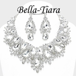 DRAMATIC royal statement bridal necklace set