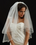 Drina - Beautiful two tier embroidered edge wedding veil - SALE
