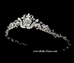 Dutchess - Beautiful vintage swirl bridal tiara - SALE!!