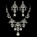 Dutchess - Dramatic vintage statement bridal necklace set - SALE!!