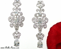 Dutchess - Royal Collection Vintage CZ Wedding earrings - SPECIAL one left