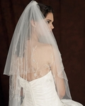 Edward Berger Couture beaded veil - 4122