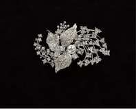 Edward Berger Crystal leaves Hairpiece-8312-SALE