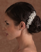 NEW!! Romantic off white pearl Edward Berger wedding comb - 2519