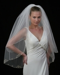 Edward Berger STUNNING 2-tier bridal veil - 4705 - SALE!