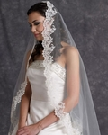 Edward Berger stunning lace edge mantilla Wedding Veil 4327