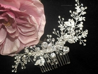 Elana - NEW - Breathtaking Swarovski crystal vine bridal hair comb - SALE