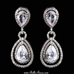 Elayne - GORGEOUS! High end CZ bridal drop earrings - SALE two left