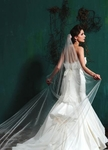 Elegant 1 - tier scattered rhinestone cathedral wedding veil - SPECIAL!!