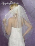 Elegant 2 tier beaded edge bridal veil - SPECIAL!!