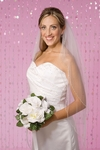 Elegant 2-tier beads and rhinestone veil