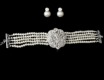 ELEGANT 3pcs vintage-inspired pearl bridal choker set - GREAT DEAL!!