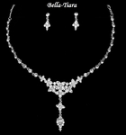 Elegant Communion Rhinestone Drop Necklace Set