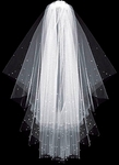 Elegant CUSTOM order two tier scattered crystals wedding veil - SALE