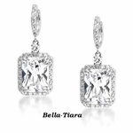 Elegant designer CZ emerald cut earrings - SPECIAL