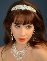 Elegant pearl crystal wedding headband - Ansonia bridal - SALE