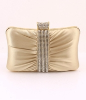 Elegant gold evening bridesmaids clutch purse