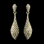Elegant gold sparkle rhinestone earrings