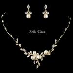 Elegant gold wedding jewelry set -SALE
