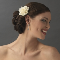 Elegant ivory rose flower bridal hair pin - SALE!!