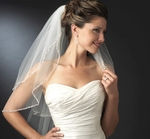 Elegant pearl and rhinestone 2 tier wedding veil - SPECIAL!!!