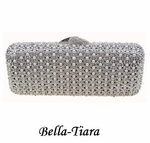 Elegant Pearl & Silver Crystal Wedding Clutch  - SPECIAL