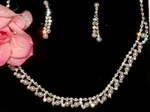 Elegant Rhinestone and Crystal Necklace Set