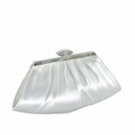 Elegant rhinestone clasp satin bridal purse - SALE!!