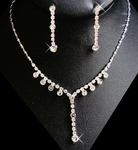 Elegant Rhinestone crystal drop necklace
